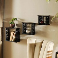 Scrolled Cube Shelf, Set of 3 | Kirklands