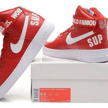 CREYNW6 Originals Nike AIR FORCE One 1 HIGH SUPREME SP AF1 HI Running Sport Casual Shoes 698696-610 Sneakers