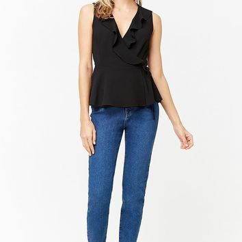 Ruffled Wrap Top