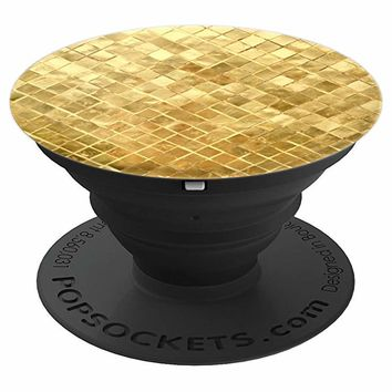 Woven Gold Elegance PopSocket Grip - PopSockets Grip and Stand for Phones and Tablets