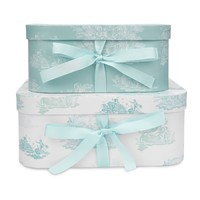 Set of 2 Toile Print Storage Boxes | Laura Ashley