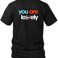 Twenty One Pilots You Are Lovely 2 Sided Black Mens T Shirt