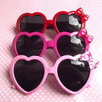 Cute heart shaped sunglasses in hot pink pastel by LolitaTortoise
