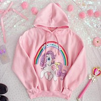''MOSCHINO'' Women Hot Hoodie Cute Sweater Pink