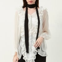 Adele Ruffled Blouse Discover the latest fashion trends online at storets.com