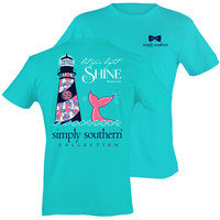 Simply Southern Let Your Light Shine Whale Lighthouse T-Shirt