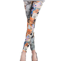 Cats Print High Waisted Leggings