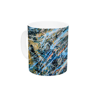 """Bruce Stanfield """"Cobalt One"""" Blue Abstract Ceramic Coffee Mug"""
