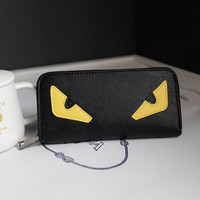 New Fashion Little Monster Women Wallets Long Monster Eyes Purses For Female High Quality Daily Clutches PU Wallets