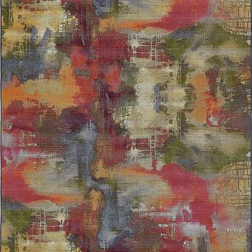 7139 Multi Abstract Outdoor Contemporary Area Rugs