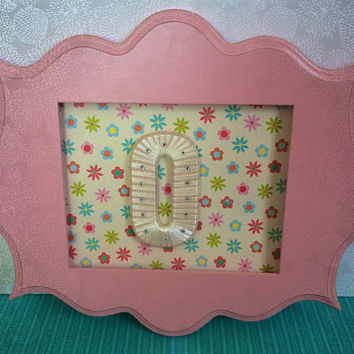 Baby Girl Nursery Decor-Custom Made Letters in Frame- By Tightly Wound Designs