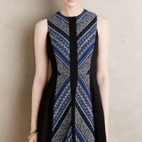 Maeve Pyramid Flare Dress in Blue Motif Size: