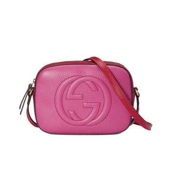 Gucci Women's Disco Soho Pink and Red Cross Body Bag 431567