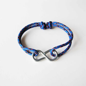 Infinity Rope Bracelet Blue by AllBeta on Etsy