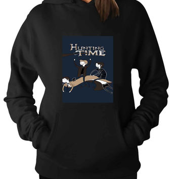 Supernatural funny adventure time fun For Man Hoodie and Woman Hoodie S / M / L / XL / 2XL*AP*