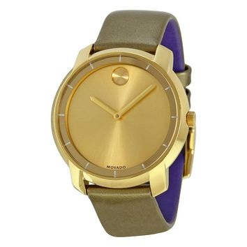 Movado Bold Gold Ion-Plated Stainless Steel Ladies Watch 3600312