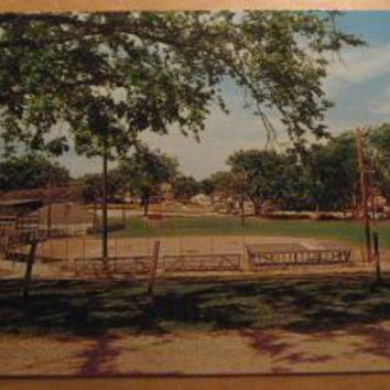 Vintage Little League Diamond Fairfield Iowa Postcard