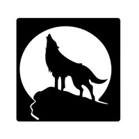 Howling Wolf Vinyl STICKER/DECAL For Cars.Trucks,Computers,Notebooks etc. Any Corlor