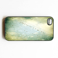 Iphone Case Vintage Afternoon Birds on Wire by SSCphotographycases