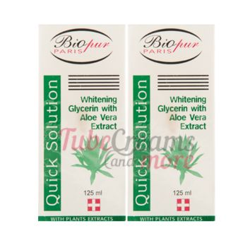 Biopur Solution Whitening Glycerin with Aloe Vera Extract (125ml) 2PCS