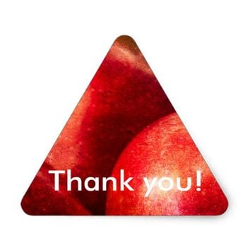 Three Red Apples Triangle Sticker