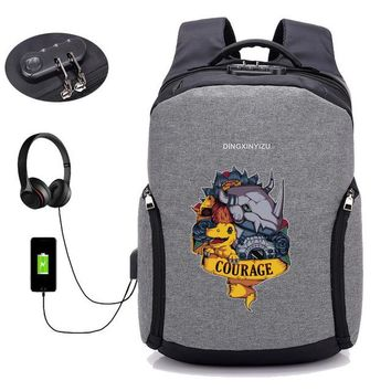 Anime Backpack School USB charging Laptop Backpacks kawaii cute game Digital Monster backpack Teenager Male Mochila Travel backpack School student book bag AT_60_4