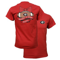 Southern Couture Georgia Bulldogs Vintage Football T-Shirt