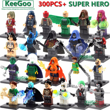 Single Sale Super Hero DC Marvel Avengers Minifigure Batman Xmen deadpool Building Blocks Model Brick Toys Compatible with Legoe
