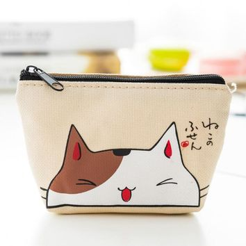 Sale 1PC Makeup Bags With Cat Pattern Cute Cosmetics Pouchs For Travel Ladies Pouch Women Cosmetic Bag