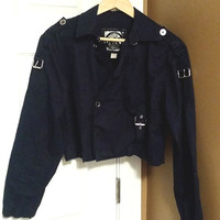 Michael Kors Women's Navy Blue Crop Jacket SizeSmall  Great Condition!!   Free Shipping!!