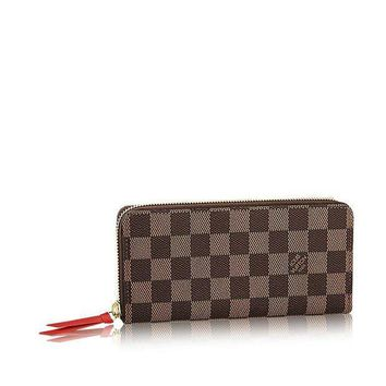 DCCK Louis Vuitton Damier Ebene Canvas Clemence Wallet N60534