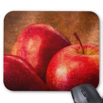 Three Red Apples Mouse Pad