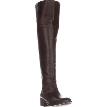 Vince Camuto Bestan Studded Over The Knee Boots, Carob, 7.5 US / 37.5 EU