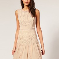 ASOS Antique Cutwork Flapper Dress at asos.com