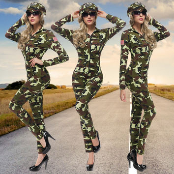 Camouflage Party Uniform Cosplay Anime Cosplay Apparel Halloween Costume [9220656452]