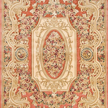 4866 Rose Carved Traditional Area Rugs