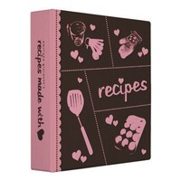 Recipes Made With Love Avery Binder from Zazzle.com