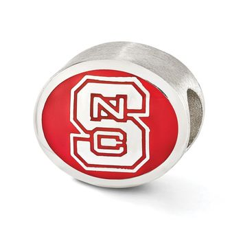 Sterling Silver & Enamel North Carolina State University Bead Charm