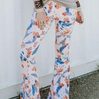 Lucky Duck Bell Bottoms - Maui Babe Floral