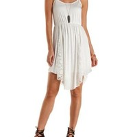 Lace-Trim Backless Dress by Charlotte Russe - White