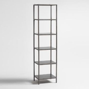 Gunmetal Holden Open 5 Shelf Tower Bookcase