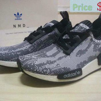 Spring Summer 2018 Fashion Adidas NMD Runner PK S79478 Primeknit Grey Black White sneaker