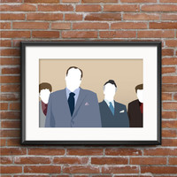 The Sopranos Poster - Tony, Paulie, Sil, & Christopher Print