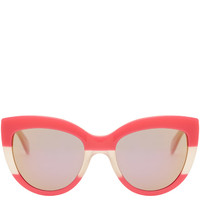 Marc by Marc Jacobs Pink Colour Block Cat-Eye Sunglasses | Accessories | Liberty.co.uk