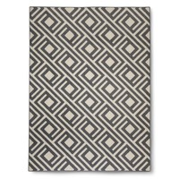 Threshold™ Square Geometric Rug - Gray