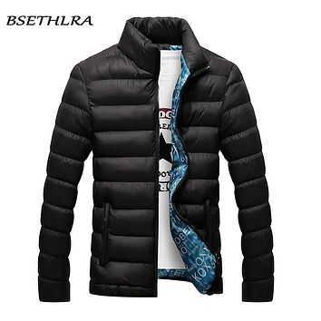 BSETHLRA 2019 Jackets Men Winter Hot Sale Windbreak Cotton Added Casual Slim Fit Mens Coats And Jackets Brand Clothing Parka Men