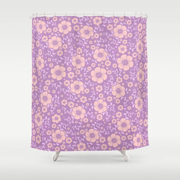 Lilac Pattern Shower Curtain By Tony From Society6