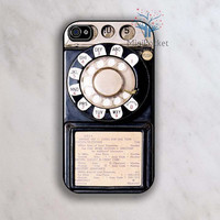 Vintage Telephone iphone case iPhone 4 Case by MiniPocket2012