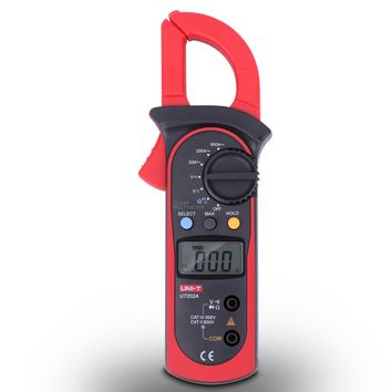 UNI-T UT202A Auto-Ranging Digital Clamp Multimeter DC/AC 600 AMPS Meter Resistance / Frequency / Duty / Diodes Meter Tester