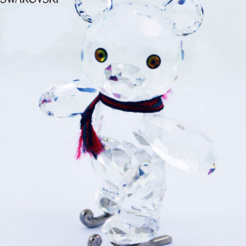 Swarovski Figurine KRIS BEAR ON SKATES w/Artist Signature #193011